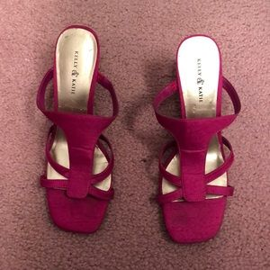 Hot pink Heals by Kelly and Katie